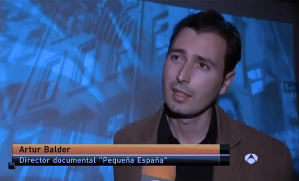 Artur Balder interviewed by Antena 3 TV Weekend News
